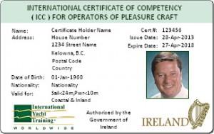Сертификат Certificate ICC Ireland