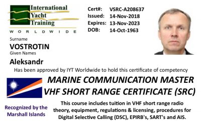 VHF Radio Operator